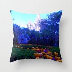 Path of Petals Throw Pillow
