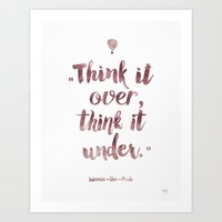 winnie the pooh Art Prints featuring Winnie-The-Pooh quote by Roarr