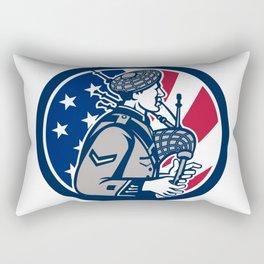 American Bagpiper USA Flag Icon Rectangular Pillow