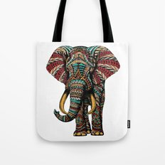 Ornate Elephant (Color Version) Tote Bag