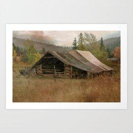 Wyoming Country Barn Art Print