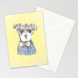 Schnauzer Dog Hipster Pup Stationery Cards