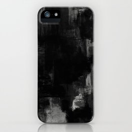 Pointless - Black and white abstract textured painting iPhone Case