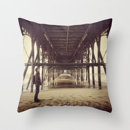 Under the Piers Throw Pillow