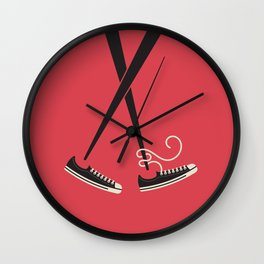 Chopstick Chucks Wall Clock