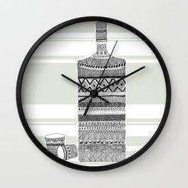 Patterned Bottle Wall Clock