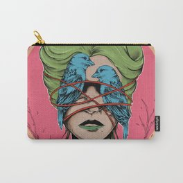 Bird Woman Edition 2 - Surreal Colorful Portrait Carry-All Pouch