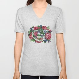Compassion is Beautiful Unisex V-Neck