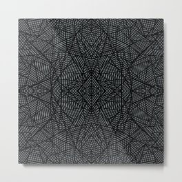 Ab Lace Black and Grey Metal Print