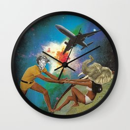 An Elephant Always Remembers Why She's Here Wall Clock