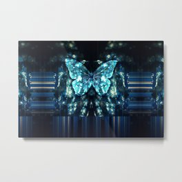 ButterFly Glitch Metal Print