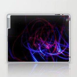 Abstract blue and red light effect Laptop & iPad Skin