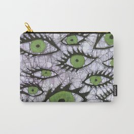 green eyes batik Carry-All Pouch