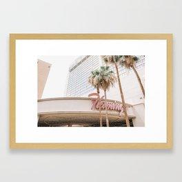 Flamingo Hotel Framed Art Print