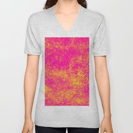 Splatter pattern neon grafitti Unisex V-Neck