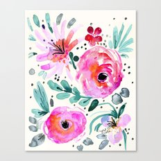 Colby Floral Canvas Print
