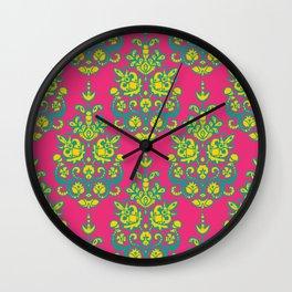 Kala damask ikat Wall Clock