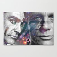 james bond Canvas Prints featuring Bond, James Bond by detectivesinc