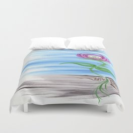 Bloom of a Fire Duvet Cover