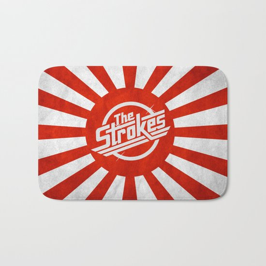 The Strokes Logo Welcome To Japan Bath Mat
