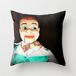 Creepy Dummy Throw Pillow