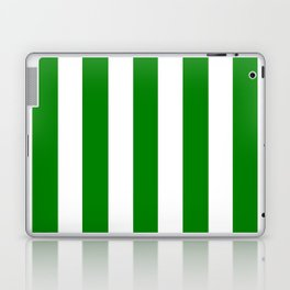 Green (HTML/CSS color) - solid color - white vertical lines pattern Laptop & iPad Skin