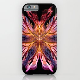 Flame Flower with Wings iPhone Case
