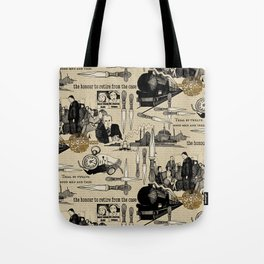 Murder on the Orient Express (Agatha Christie) Toile de Jouy Tote Bag