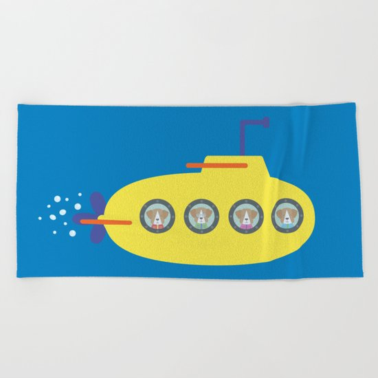 The Beagles - Yellow Submarine Beach Towel