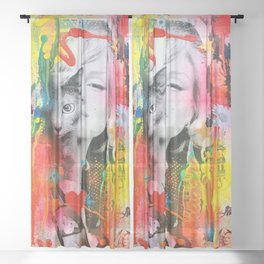 Marilyn and Cat Sheer Curtain