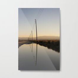 Telephone Reflection Metal Print