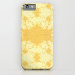 Eco Shibori Tumeric iPhone Case