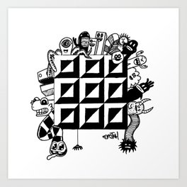 Monster bunch Art Print