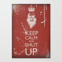 keep calm Canvas Prints featuring Keep Calm by ODDITY