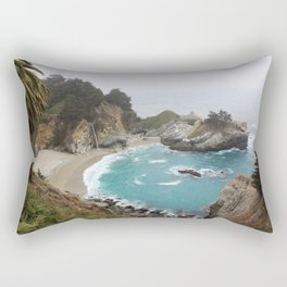 Foggy Day in Big Sur Rectangular Pillow