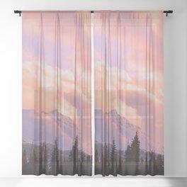 Rose Quartz Turbulence Sheer Curtain