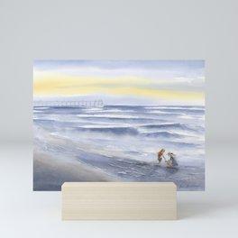 Shelling at Wrightsville Beach Mini Art Print