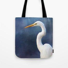 Painted Egret Tote Bag