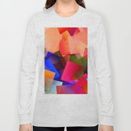 Play with transparent cubes and plates Long Sleeve T-shirt