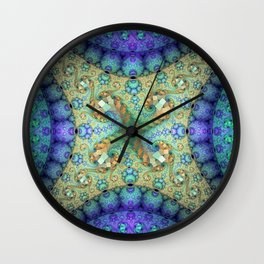 Never ending patterns with spirals and orbs Wall Clock
