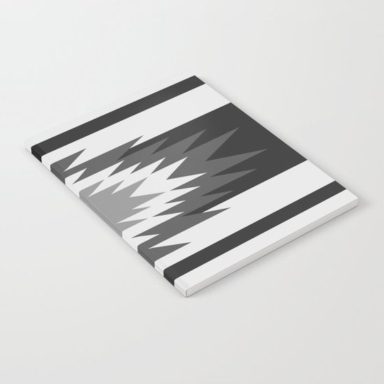 Aztec - black and white Notebook