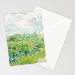 Green Wheat Fields, 1890, Vincent Van Gogh Stationery Cards