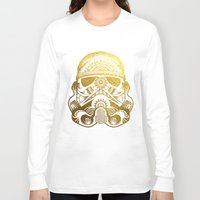 gold foil Long Sleeve T-shirts featuring Mandala StormTrooper - Gold Foil by Spectronium - Art by Pat McWain