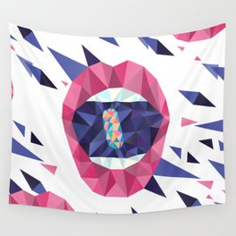 Rainbow Pills in my Mouth - Triangled Lips Wall Tapestry