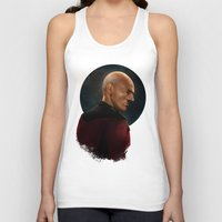 picard Tank Tops featuring Picard by Raven Krupnow