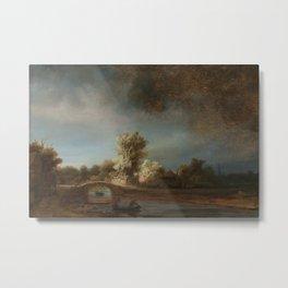 Rembrandt - The Stone Bridge Metal Print