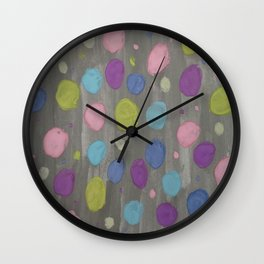 Pastel Bubbles Abstract Wall Clock