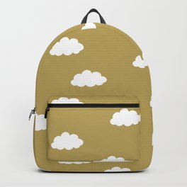 White clouds in green yellow background Backpack