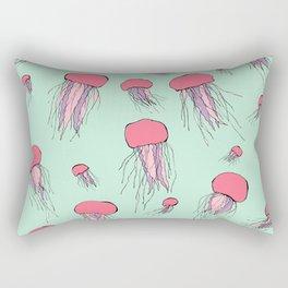 Pastel colors jellyfish Rectangular Pillow