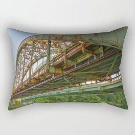 Rusted Sunset Bridge Rectangular Pillow